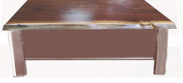 Unique Amish Rustic Live Edge Coffee End Table Black Walnut Hardwood Furniture For Your Cabin Or Lodge Home