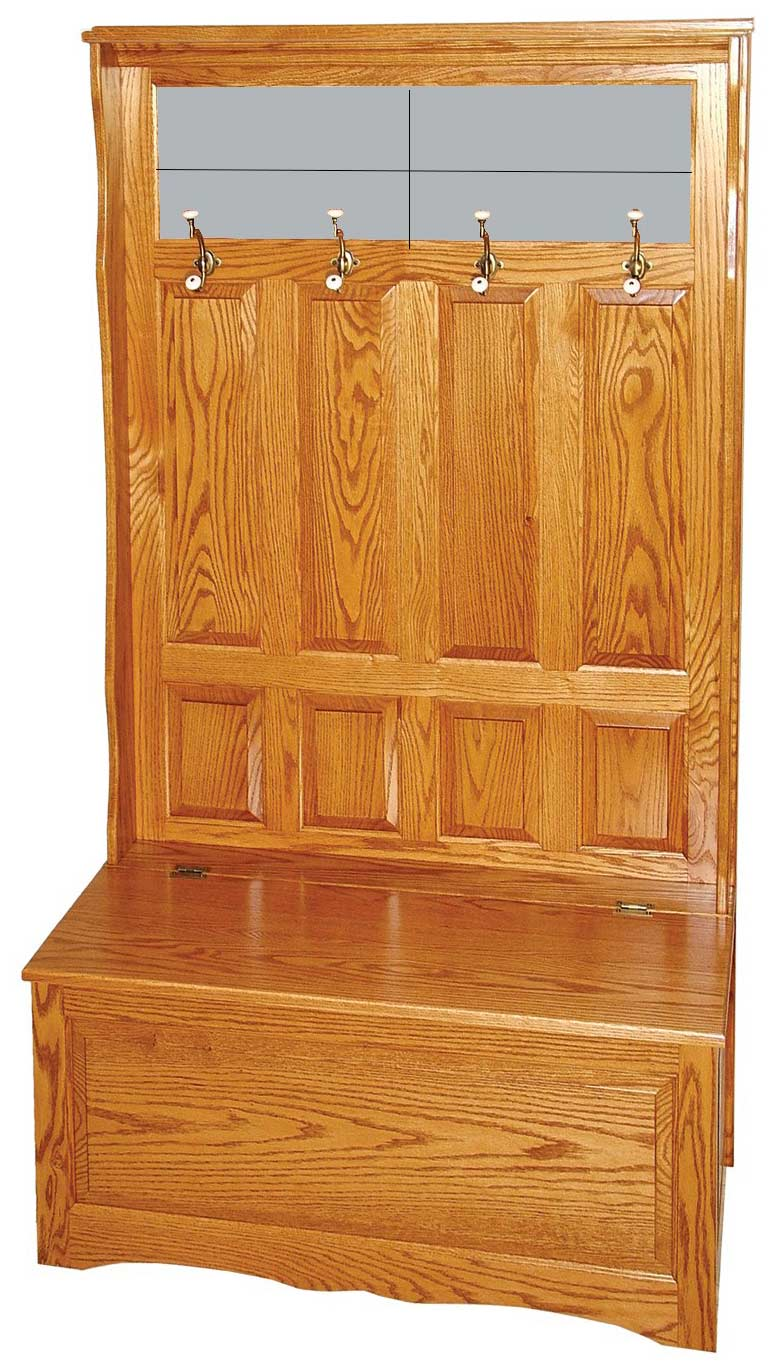 Swell Amish Furniture Oak Storage And Hall Seating Bench Unit Camellatalisay Diy Chair Ideas Camellatalisaycom