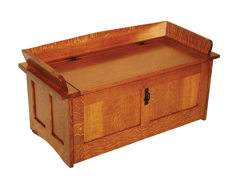 Amish Furniture Oak Toy Storage Bench ...