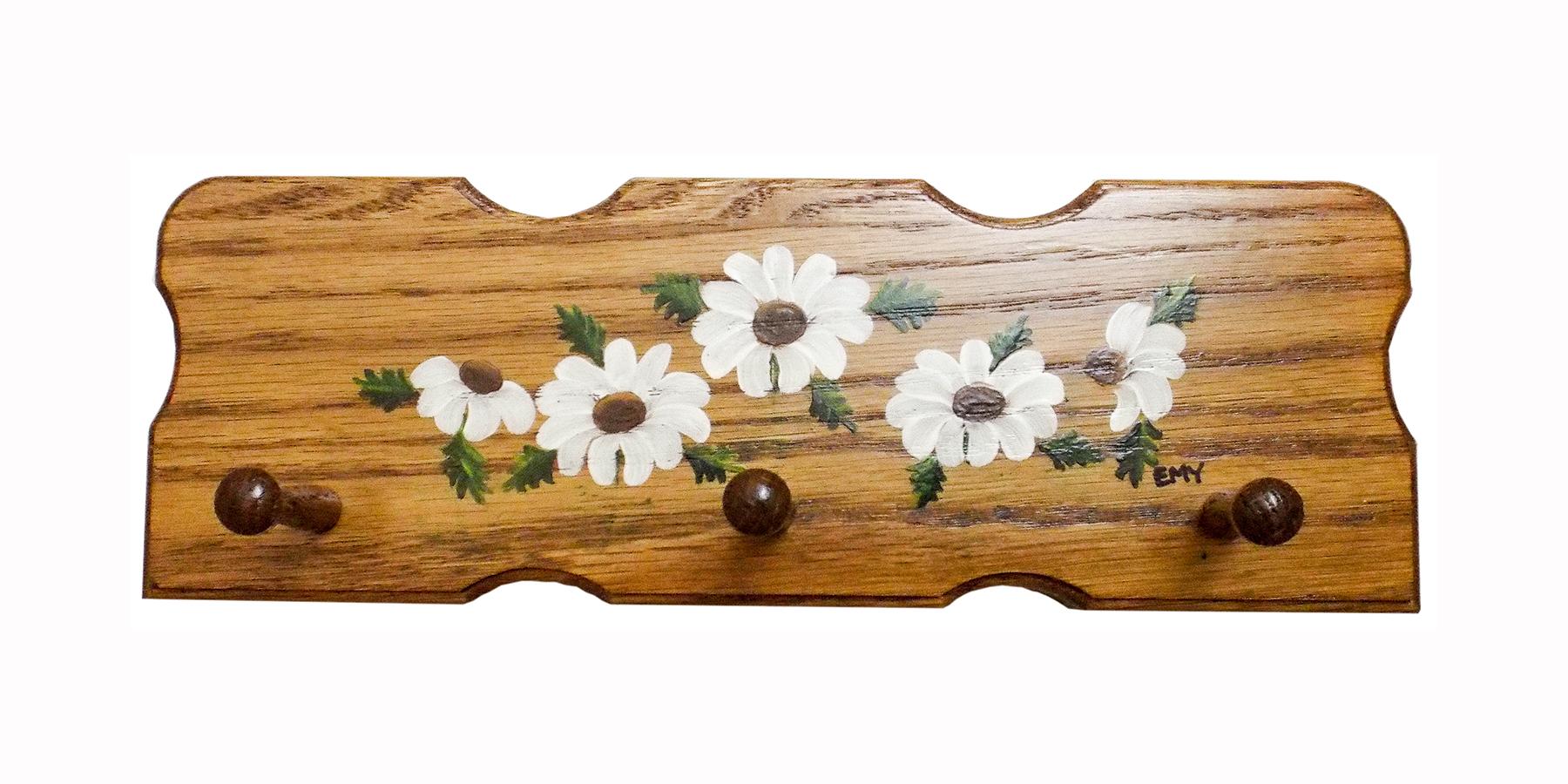 Amish crib for sale - Hand Painted Apple Oak Key Holder Rack