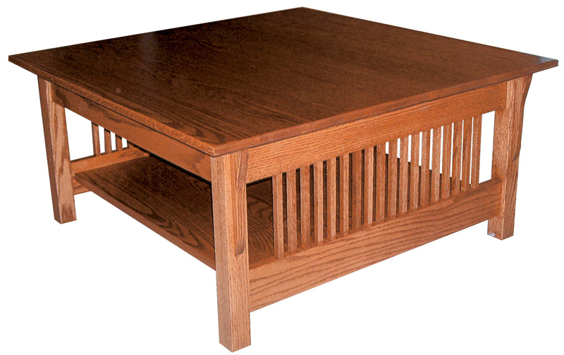 Amish Prairie Mission Square Coffee Table 18 Inches High X 40 Inches Width Delivery Included