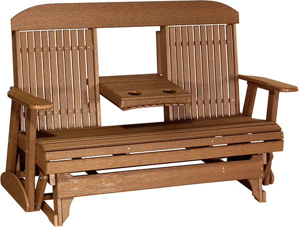 Poly Glider Ohio Amish Outdoor Classic Furniture Four Or