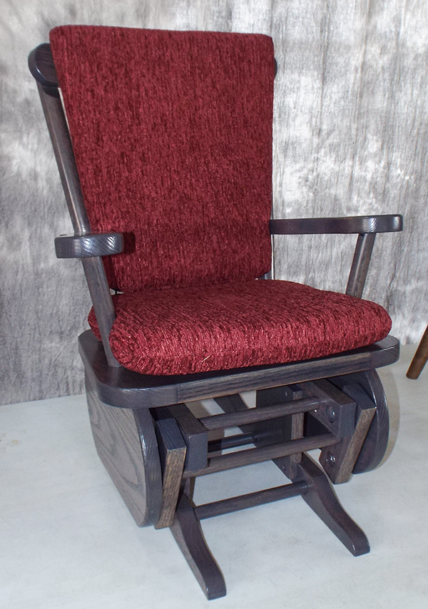 Glider Chair Bearings : Amish child glider rocker oak and cherry hardwood gliders