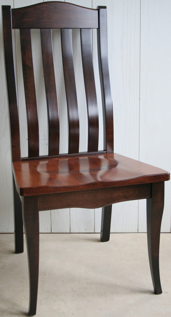 Amish Dining Salem Chair Handmade Furniture Hardwood Side U0026 Arm Chair Lumbar  Support Back