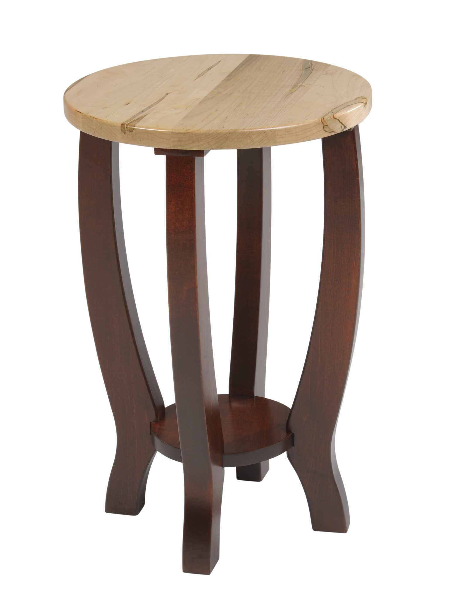 Yt240 New Port Round End Table Two Tone Occasional Round Tables End Coffee Hardwood Modern Style