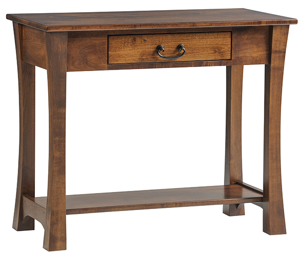 This SHAKER Woodbury Chair Side End Table With Shelf
