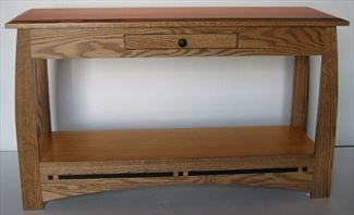 Aspen End, Coffee or Sofa Table Amish Oak or Cherry Table & Hardwoods
