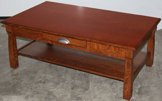 Country Hill Coffee Table Amish Oak or Cherry Table & Hardwoods