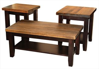 Plank Contemporary Coffee, End, Sofa Table Amish Oak or Cherry Table & Hardwoods