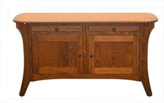 Galveston Enclosed CUSTOM Sofa Table Amish QSWO HARDWOOD Table