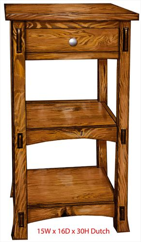 DUTCH End, Coffee or Sofa Table Amish Oak or Cherry Table & Hardwoods Extended Tenons and Flared Legs