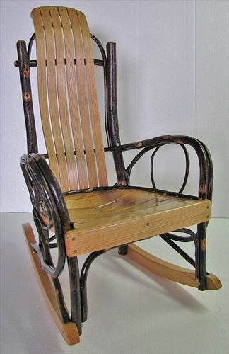 Amish rocking chairs amish hickory rockers amish gliders recliners - Automatic rocking chair for adults ...