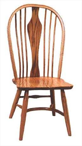 Amish Chairs-Amish Belmont Side Chairs-Oak Plain Leg