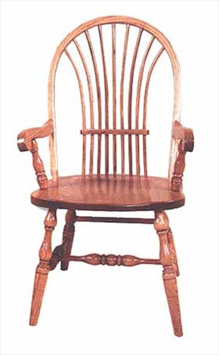 Amish Chairs-Amish Arm Chairs-Low Back-Bow Sheaf