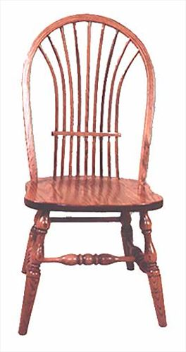 Amish Chairs-Amish Bow Sheaf Side Chairs-High Back