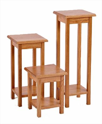 Amish Plant Hardwood Accessory Stand 3 Sizes Oak or Cherry