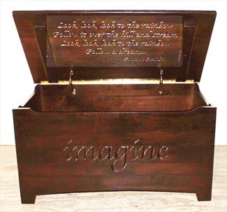 Amish Chest Personalized Toy Chest Silver (brown) Maple Chest Deluxe