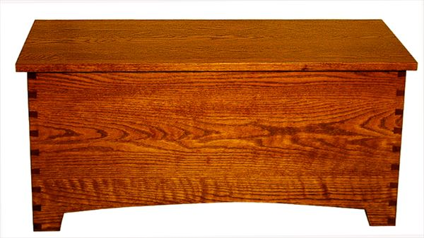 Amish Oak Furniture Shaker Large Dovetail Toy Box  Chest Deluxe Two Safety Hinges