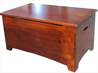 Amish Wooden Toy Box Chest-Hardwood-Large-Shaker-dovetail-Safety hinges