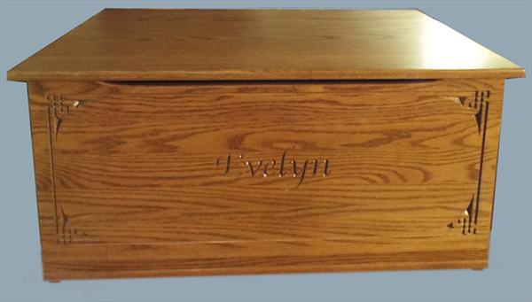 Wood Toy Box-chest-Amish TOY Chest flat top Personalized