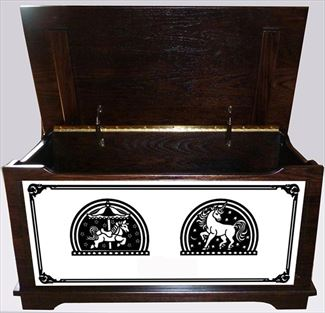 Amish Chest Child's Girls Toy Chest Oak Chest Onyx Deluxe
