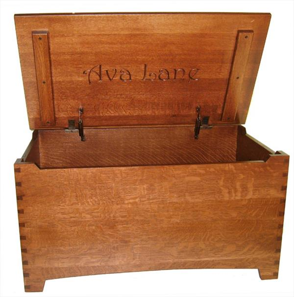 Wood Toy Box-Chest-Amish-Shaker-Large-dovetail-Safety Hinges