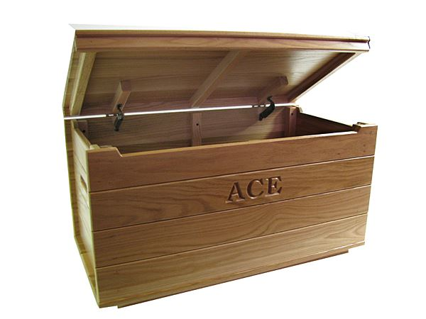 Amish Oak HardWood Toy Box-Chest-Amish Can have Name inside!