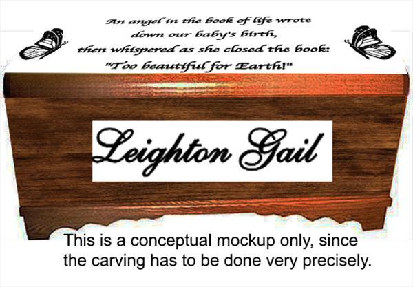 Medium Hope Chest Oak  Amish, Love Never Fails, Cherry Finish Custom