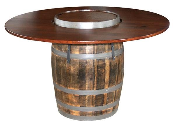 New 56 inch Set Down Table QSWO Barrel with Hardwood Top