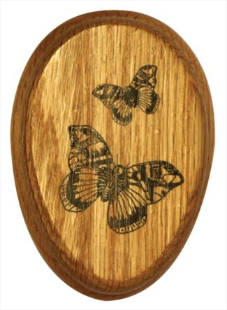 Choose Any Number of Scenes for the Quantity Price Break!!!Amish Multiple Wonderful Butterflies Marble Towel Holder Solid Stained Hardwood Exclusive Design