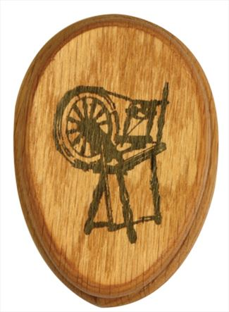 Amish Spinning Wheel Magic Marble Towel Holder by Name or Description Solid Hardwood