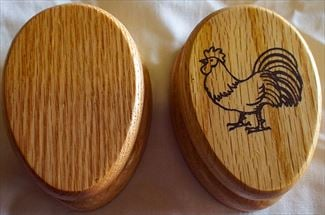 They can all be different!Amish Rural Country Rooster Scene or Stained Oak Marble Towel Holder Solid Stained Hardwood Exclusive Design