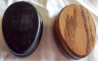 Amish Plain Medium Oak Stain or BLACK Magic Marble Towel Holder by Name or Description Solid Hardwood