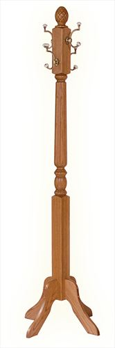 Amish Hall clothes tree Oak or Cherry or Hickory Hardwood Fluted 71 inch unassembled