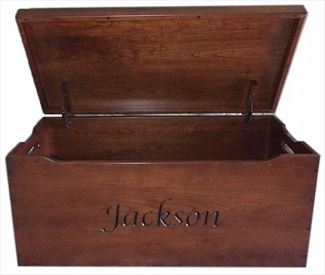 Amish Chest Personalized Toy Chest Brown Maple Chest Deluxe Two Safety Hinges