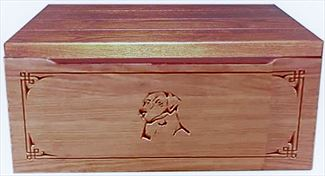 Amish Chest Amish Toy Chest Oak Chest Square Surround DOG Deluxe Two Safety Hinges