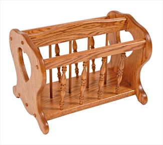 Amish Heart Cutout Magazine Rack Available in Oak or Cherry Hardwood