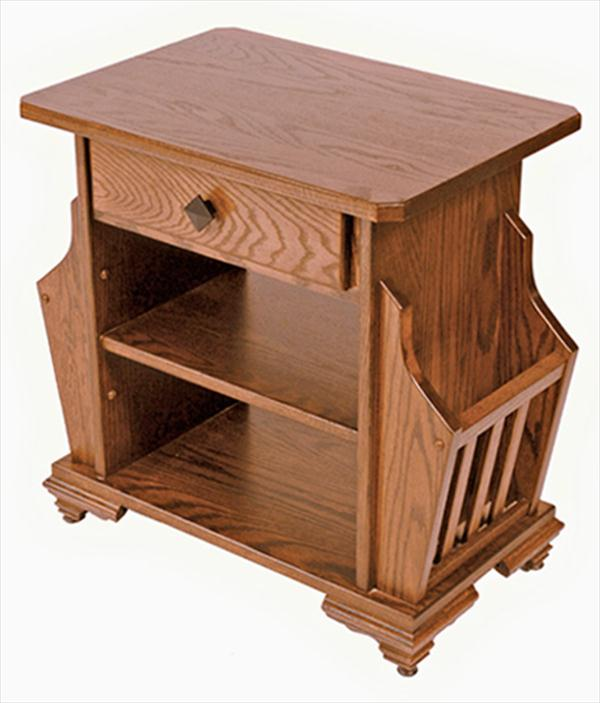 Amish Mission Magazine Stand Available in Oak or Cherry Hardwood