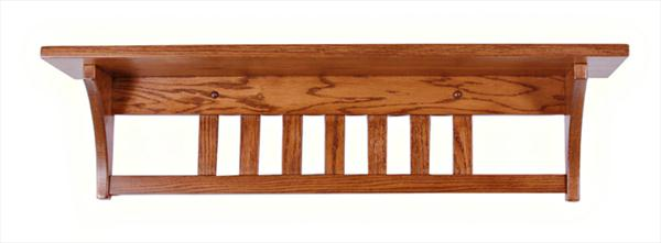 Amish Seven inch Deep Mission Shelf Available in Four Different Lengths Oak Hardwood