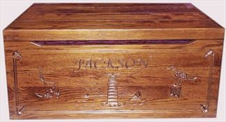 Amish Chest Amish Toy Chest Oak Chest Square Surround Nautical Deluxe Two Safety Hinges