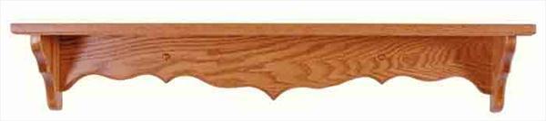 Amish Five inch Deep Curveback Shelf Available in Nine Different Lengths Oak Hardwood