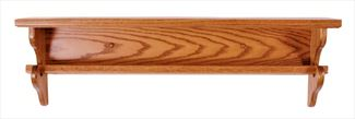 Amish SEVEN inch Deep Straightback Quilt Shelf Available in Six Different Lengths Oak Hardwood