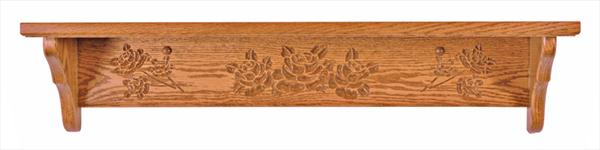 Amish Seven inch Deep Rose Shelf Available in a Variety of Lengths of Oak or Cherry Hardwood