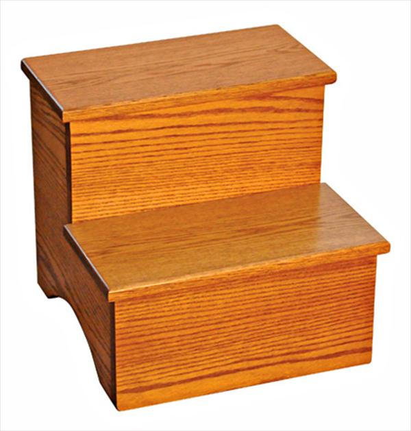 Amish Bed Steps Available in Oak or Cherry Hardwood