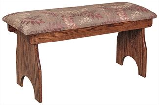 Amish SEATING Bench in Four Different Lengths Oak Hardwood