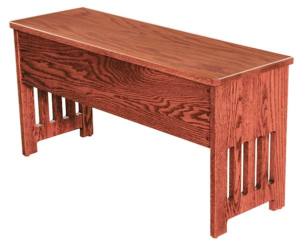 Amish MISSION STORAGE Bench Available in Four Different Lengths Oak & other Hardwoods