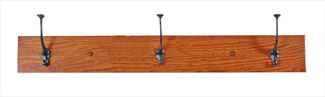 Amish Mission Three, Four, Five Hook Coat Rack Flat Oak or other Hardwoods