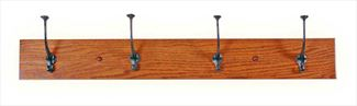Amish Mission Four Hook Coat Rack Oak Hardwood