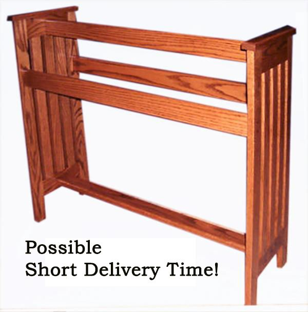 Amish Solid Hardwood Handmade Mission Hardwood Quilt Rack HH