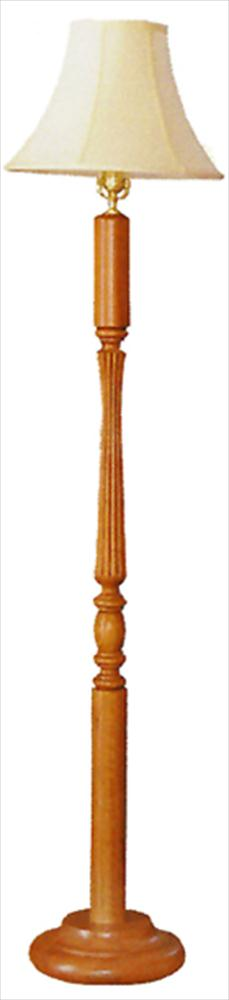 Amish Reeded Floor Lamp Round Base Oak or Cherry